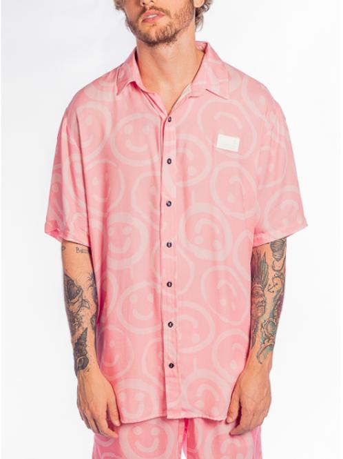 camisa alltribe smile rosa 566