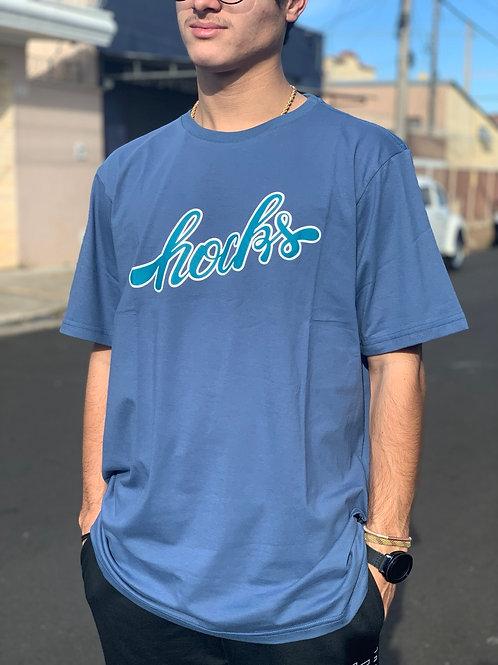 Camiseta Azul Logo, Hocks 1084
