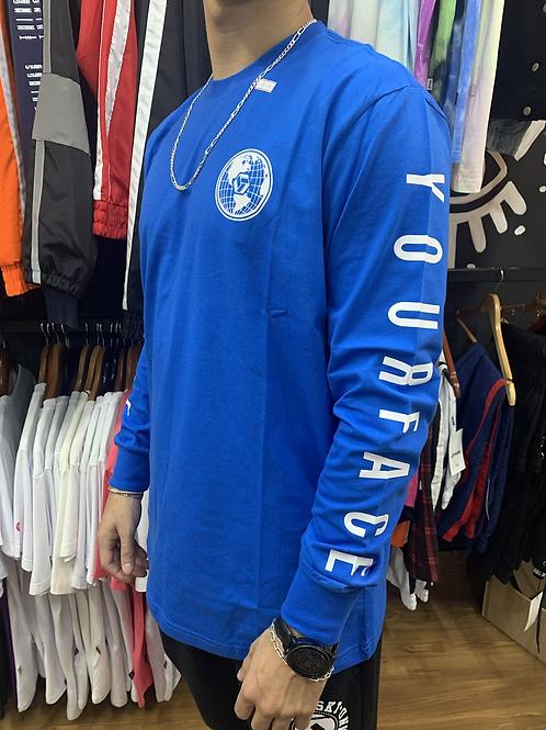 Camiseta Manga longa Yourface Blue