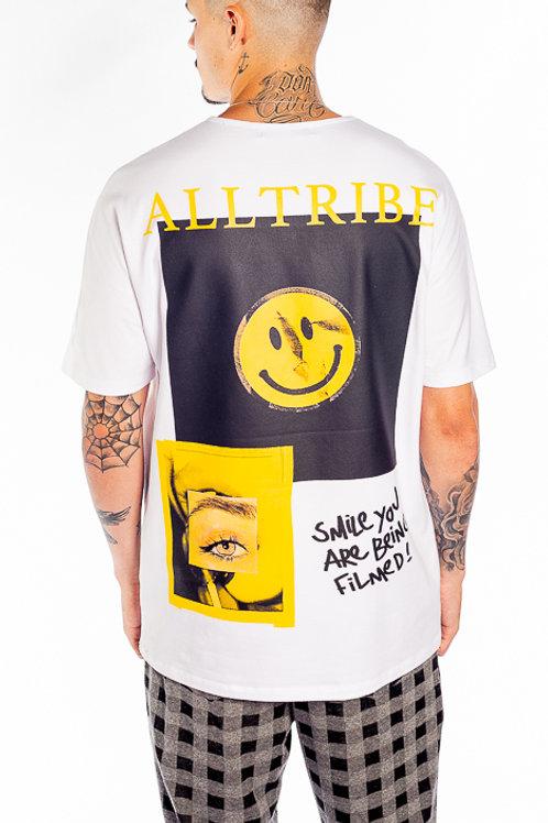 Camiseta Branca Smile,  1048