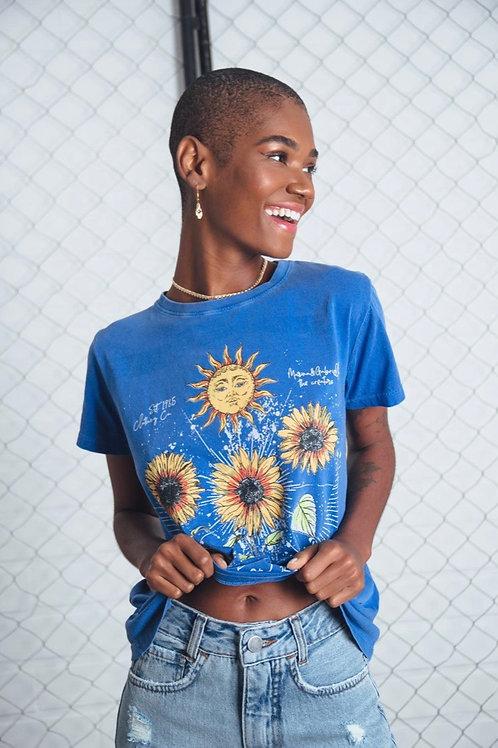 T-shirt Boyfriend Azul Rise And Breathe, Viva Vivazz 922
