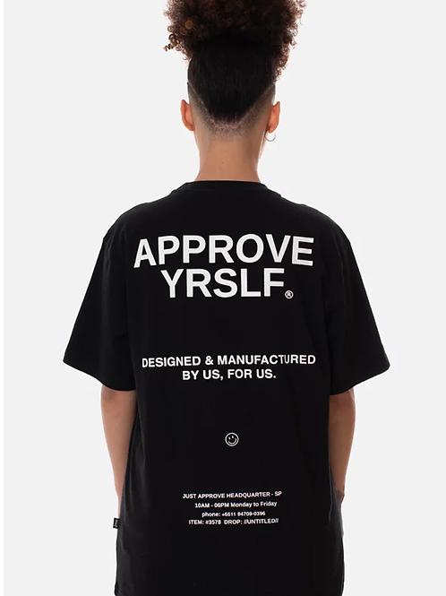 camiseta approve preta 49