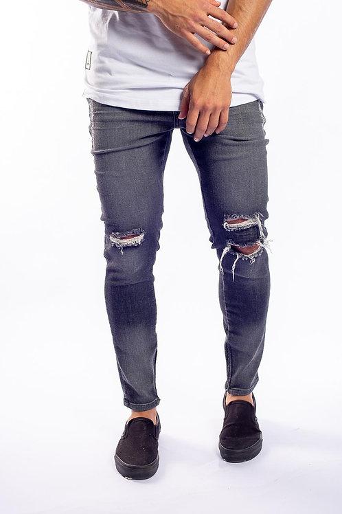 Calça Jeans Destroyed Preta 549