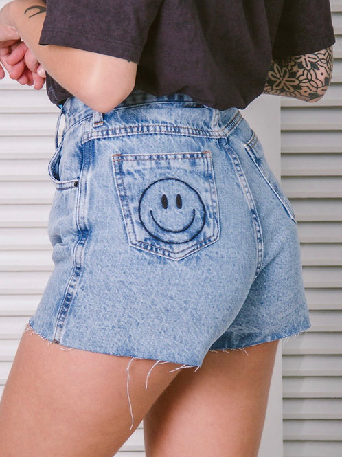 Shorts Jeans Mom Smile Barra a Fio 1439