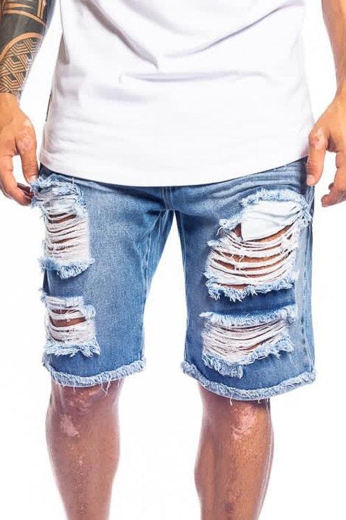 Bermuda Destroyed Jeans Médio 370