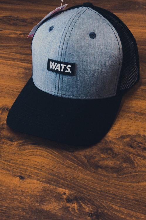 Boné Trucker Wats Cinza/Black 483