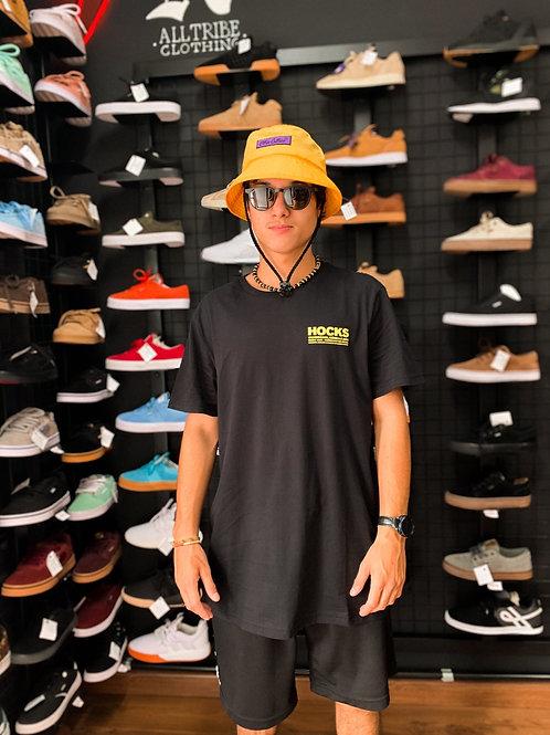 Camiseta Hocks Preta Basica Yellow 15