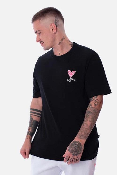 Camiseta Approve Coração Black 93