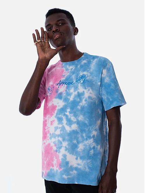 camiseta tie dye anjo rosa/azul 44