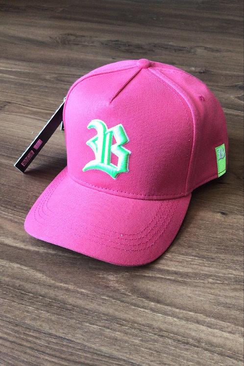 Boné aba curva rosa/neon Blck 455