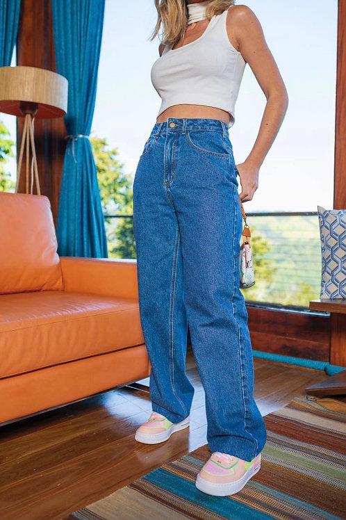 Calça Jeans Wide Leg Manu