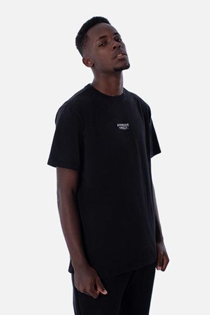 Camiseta Preta basica Escrito nas costas, Approve 1632