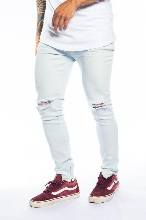 Calça Destroyed Jeans Clara zíper na barra 546