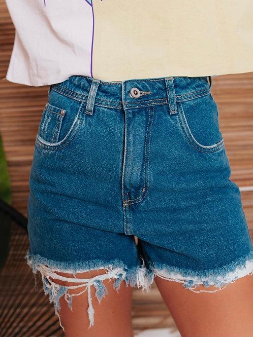 Shorts Jeans Mom Barra Destroyed 1426