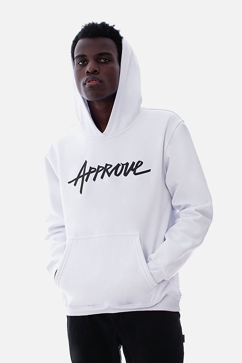 Moletom Branco Logo, Approve 1279