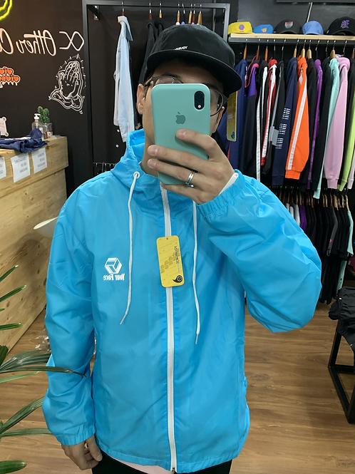 Corta Vento Yourface Azul com logo Reflect