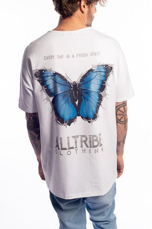Camiseta Long Butterfly White 114