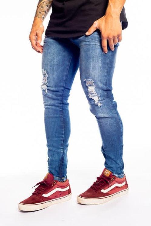 Calça Jeans escura Roma zíper na Barra 715