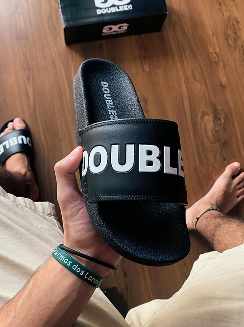 Chinelo Slide Double-G Preto