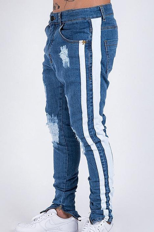Calça Jeans Destroyed Listras All Tribe