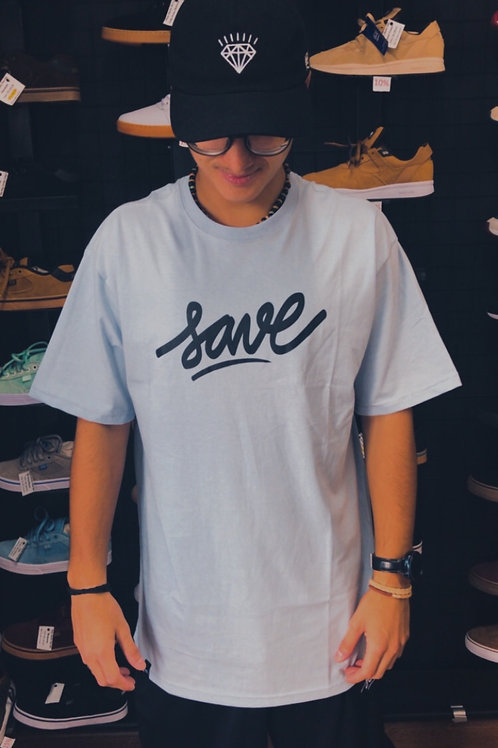 Camiseta Azul Clara Save 108