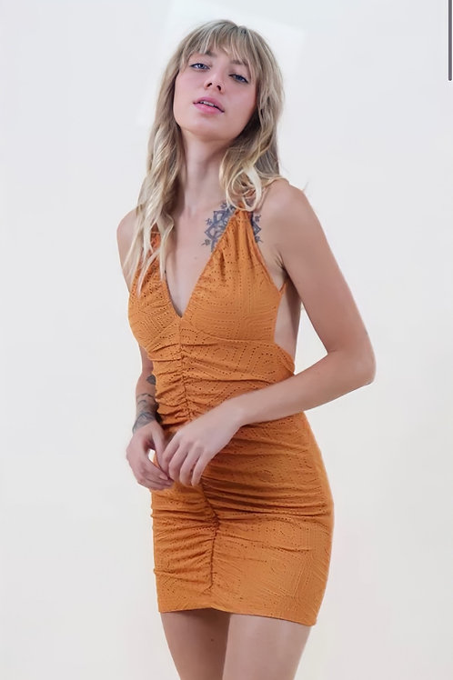 Vestido Laise Mostarda