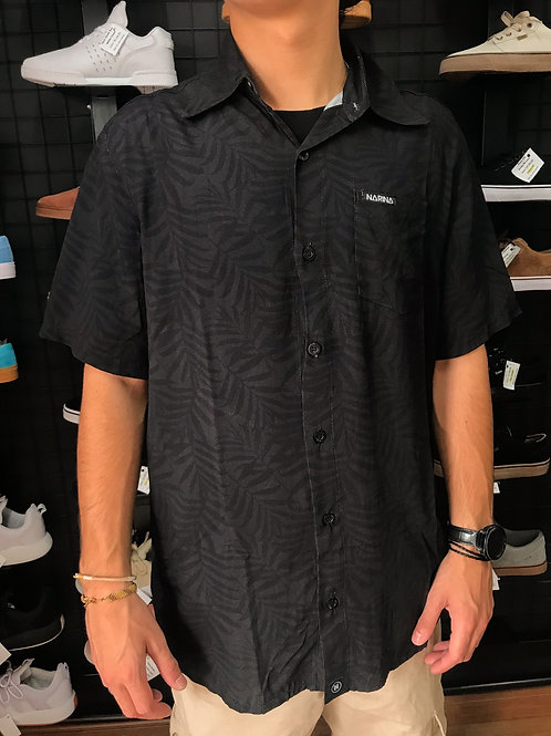 Camisa Preta Folhas Narina 563