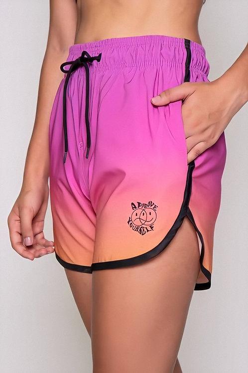Shorts Approve Sunrise Degradê Rosa