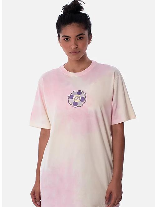 camiseta tie dye flor rosa 46
