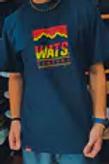 Camiseta azul logo, Wats 132