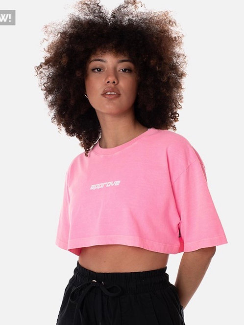 Cropped Approve Flash Rosa Neon 1720