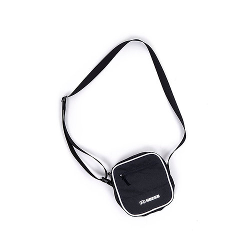 Shoulder Bag Refletiva Preta, Hocks 689
