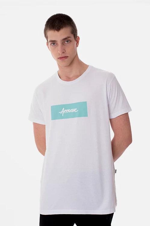 Camiseta Classic Branca Verde Agua 236