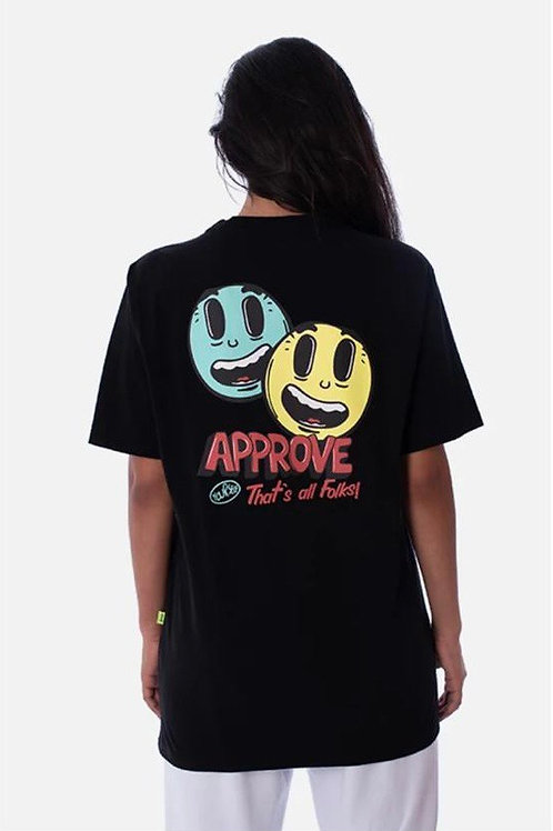 Camiseta Approve Preta Carton 88