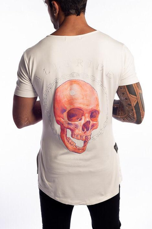 Camiseta Long Caveira Off White 115