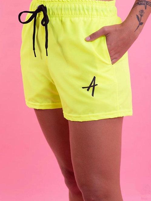 Shorts College Approve Amarelo Neon