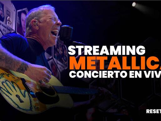 Metallica nos deleita con concierto por streaming