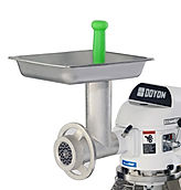 Optional meat grinder attachment