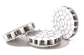Interchangeable dough press heads for DSA Divider Rounder