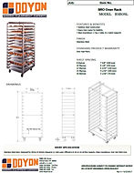 RSRO1SL Racks Spec Sheet