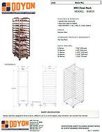 RSRO1 Racks Spec Sheet