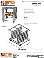 Doyon CA6B stand spec sheet