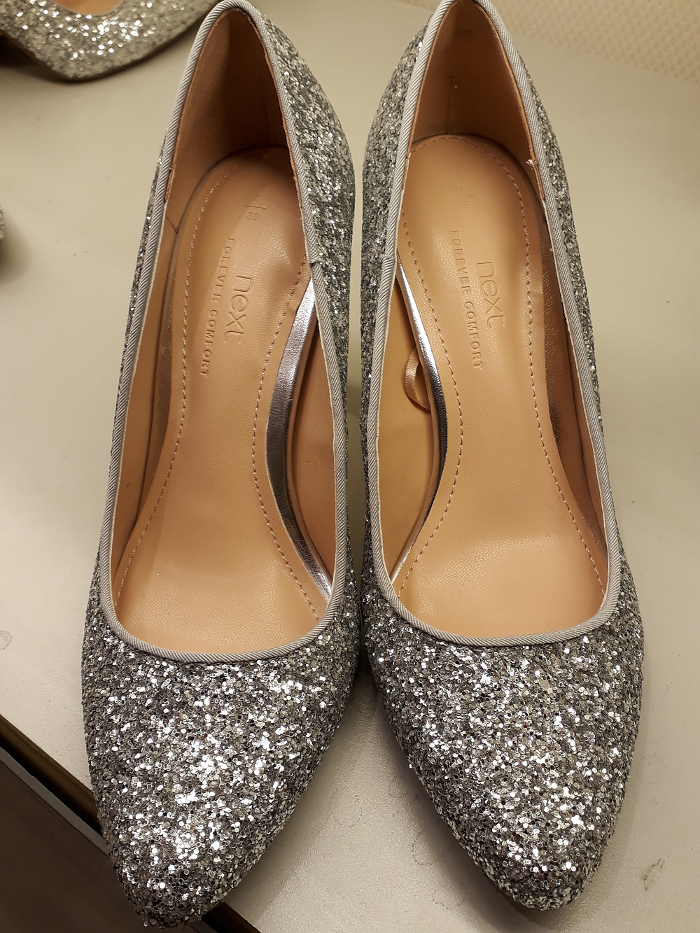 Sparkly finish pointed front (Shoes from Next)