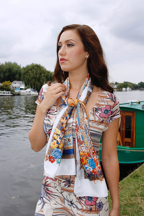 Bold Floral Scarf