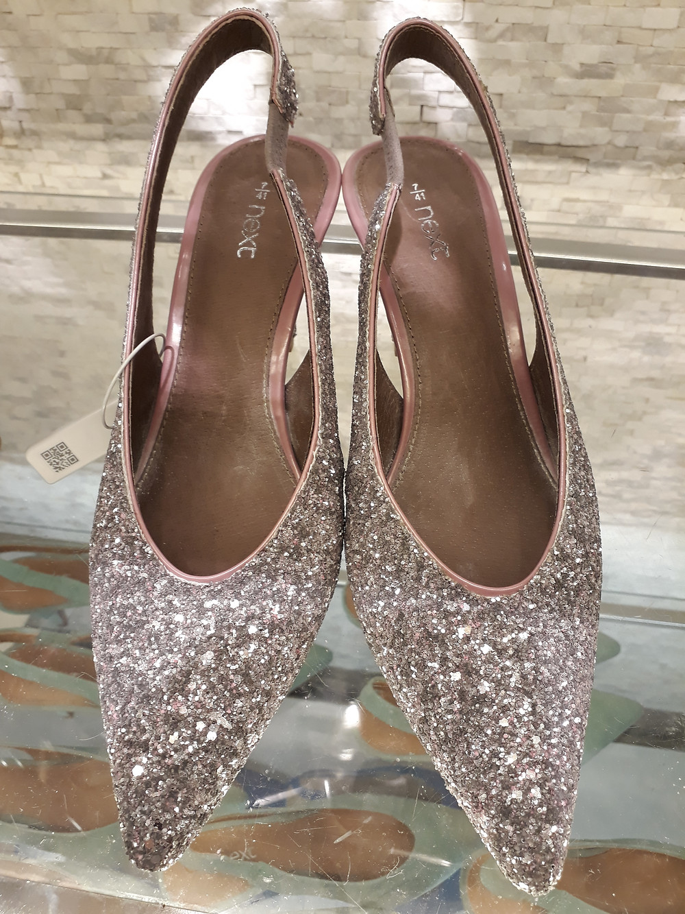 Sling back, sparkle finish (shoes from Next)