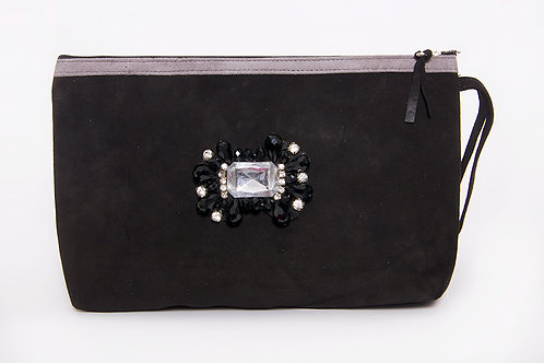 Leah Suede Makeup Bag