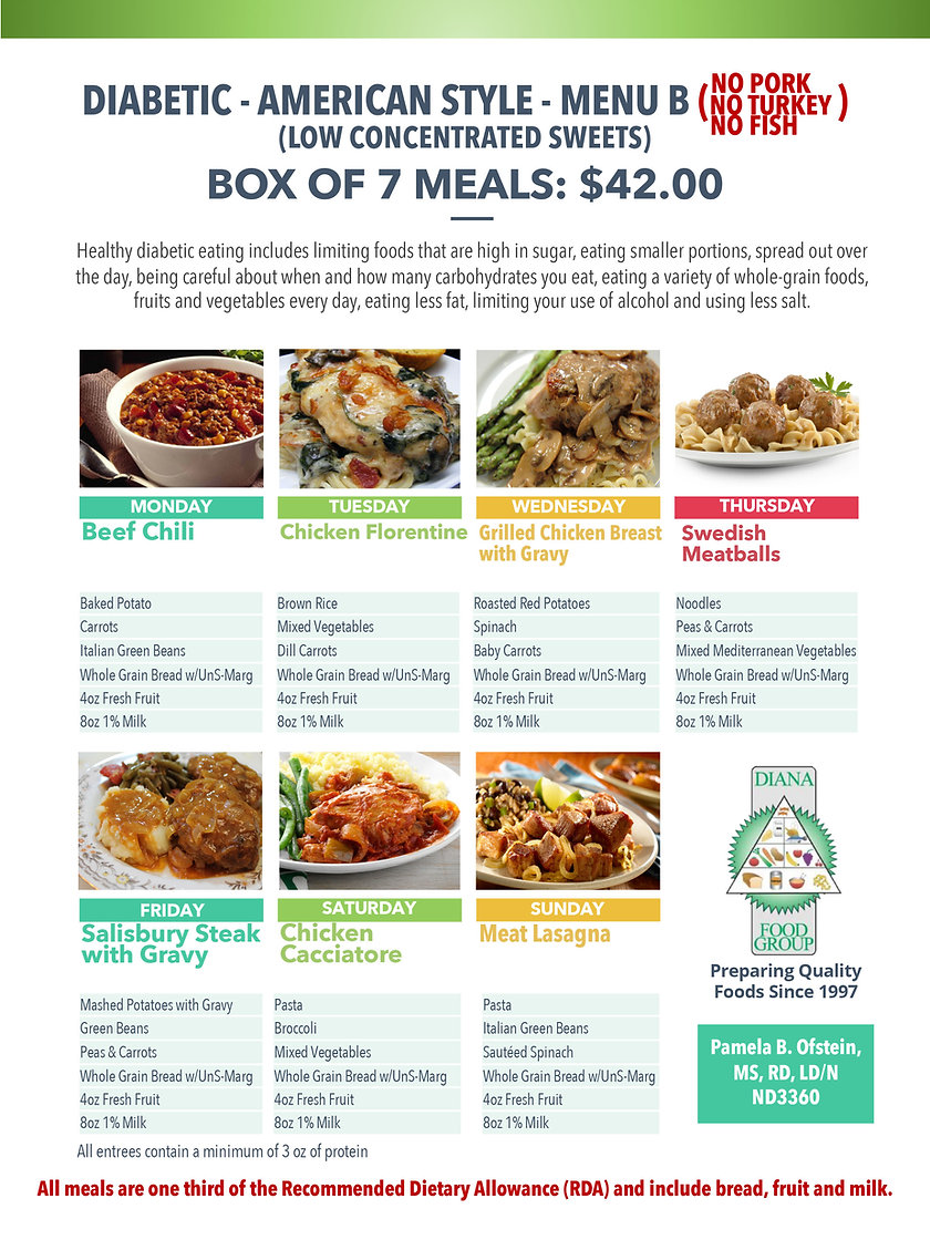 Home Deliverd Meals AMERICAN DIABETIC Ca