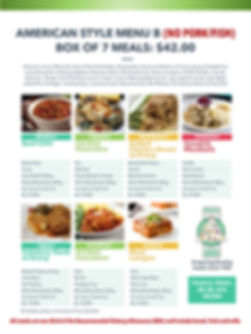 Home Deliverd Meals AMERICAN Catalog B.j