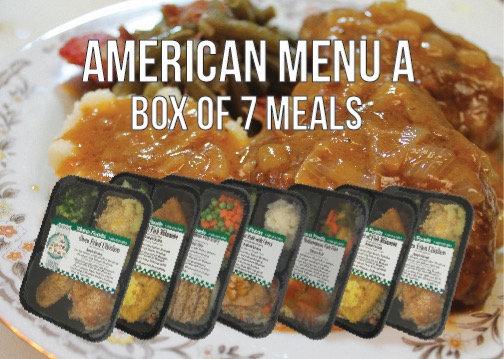 """American Menu """"A"""""""