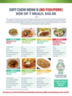 Home Deliverd Meals SOFT CHEW Catalog D.